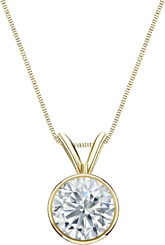 IGI Nippon regular agency Certified 14k Sale SALE% OFF Yellow Gold Bezel Diamond Solitaire Round-Cut