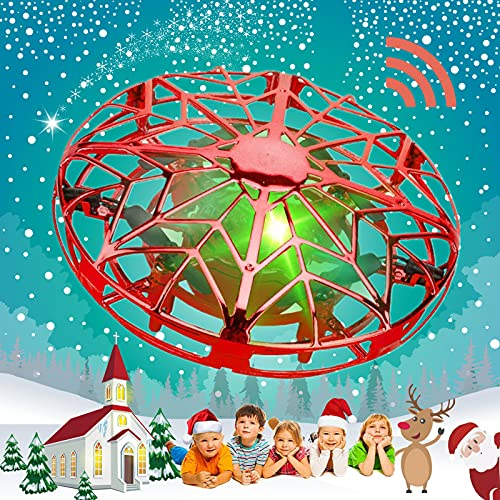 Pasobass UFO Drones for Kids, Hand Operated Mini Drone Child Kids Drone with Led Lights, Levitation...