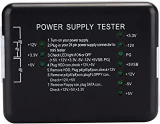 ATX Power Supply Tester, Durable ABS Universal PC Power Supply Tester, Black with LED Indicator