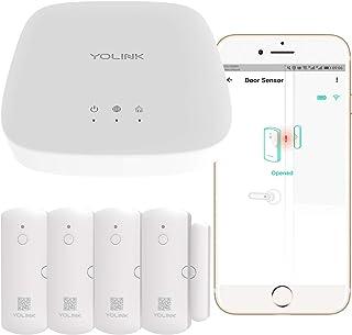 Smart Door Sensors, 1/4 Mile World's Longest Range Wireless Window Door Sensor Works with Alexa IFTTT, Smartphone Monitor ...