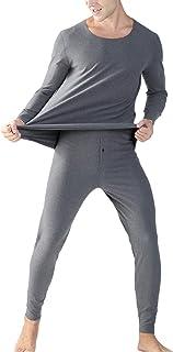 Set Stecker Winter Warm Thermo Lange Unterhose Vlies Unterwäsche Pyjama Top Hose