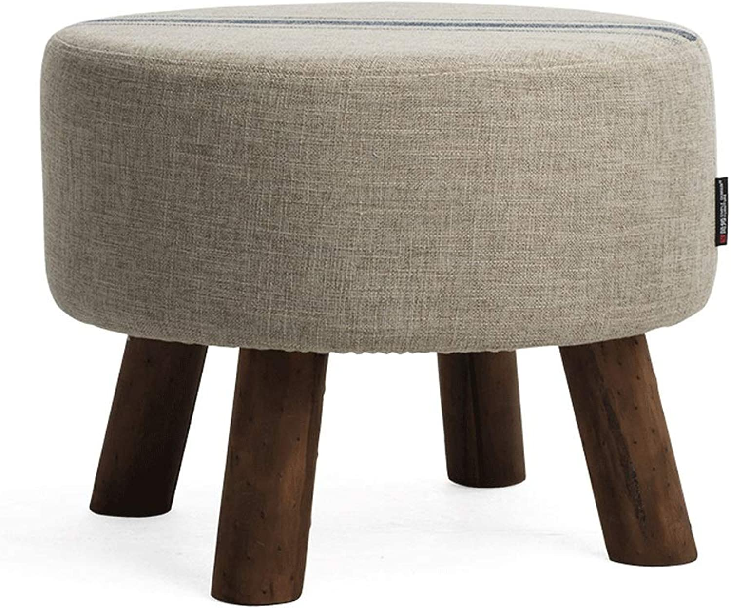 Living Room Footstool Simple Modern shoes Bench Linen Red and bluee Stripes