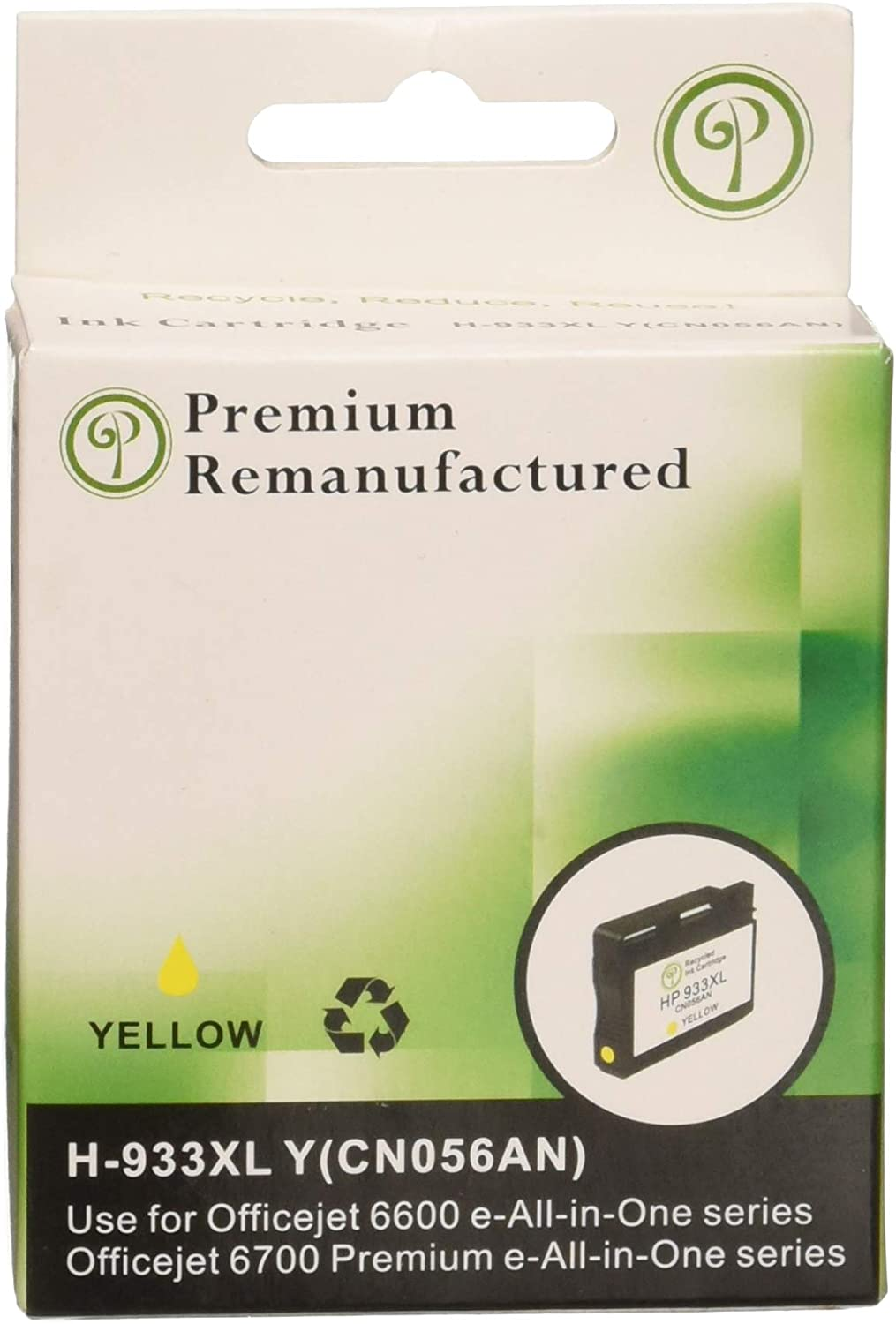 Monoprice 110718 MPI Remanufactured HP 933XL (CN056AN) High Yield Inkjet - Yellow