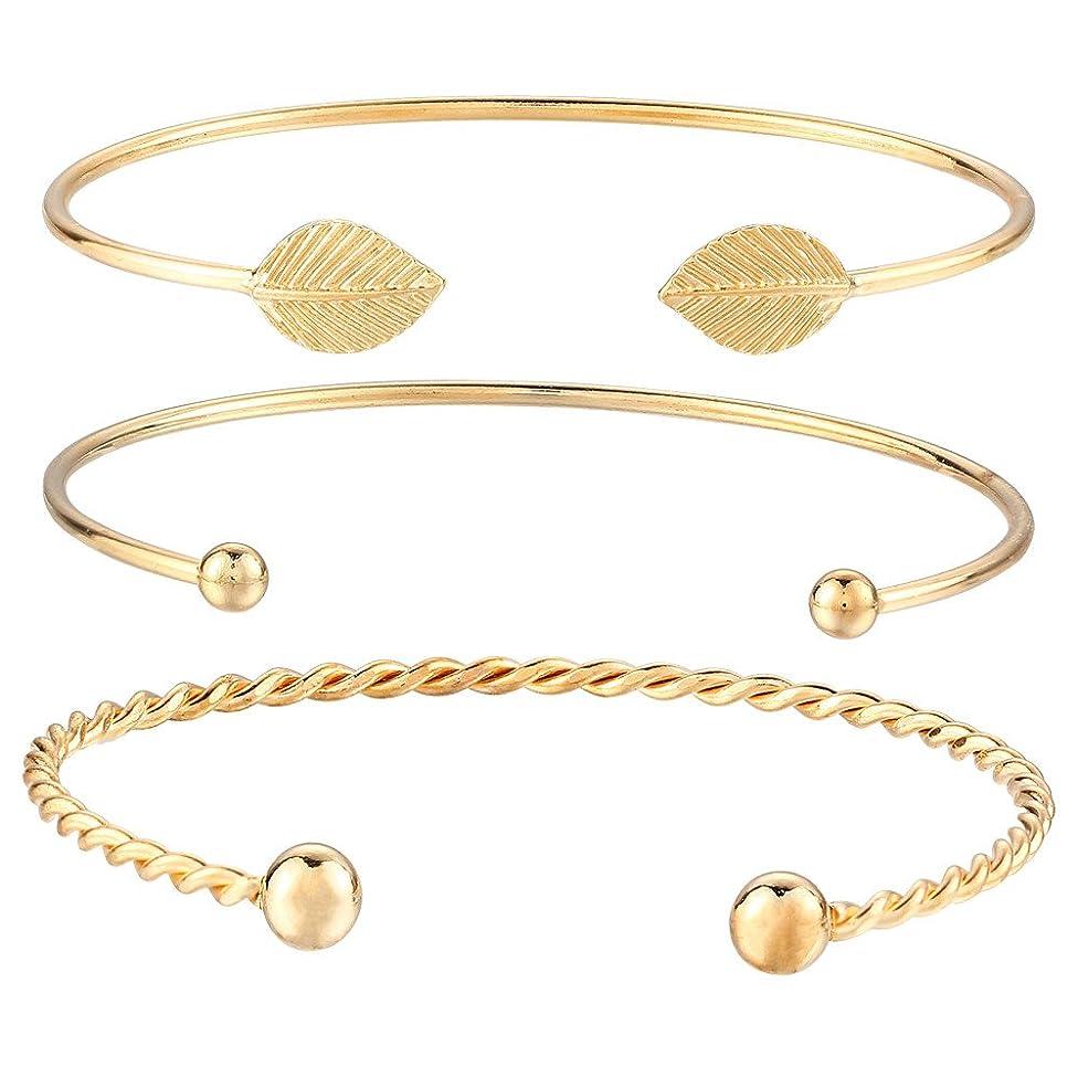 Coersd Bracelet Women Gold Punk Cuff Bangle Chain Wristband Gifts Jewelry Set