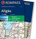 Allgäu: Wandelatlas 1:35 000 (KOMPASS-Wanderkarten-Taschenatlas, Band 2751)
