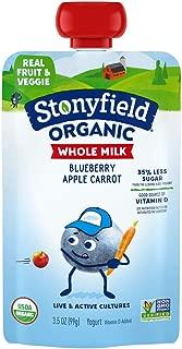 Whole Milk Yogurt Pouch Blueberry Apple Carrot , 3.5oz