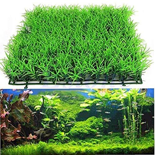 Onsinic Künstliche Wasser Aquatic Green Grass Pflanze Rasen Aquarium Landschaft