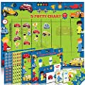 Potty Training Chart for Toddlers – Cars and Racer Design - Sticker Chart, 4 Week Reward Chart, Certificate, Instruction Booklet and More – for Boys and Girls from Athena Futures Inc.