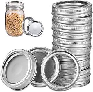 Canning Lids,Regular Mouth Lids and Bands For Mason Jar,Split-Type Lids Leak Proof Secure Mason Storage Caps (with 12pcs L...