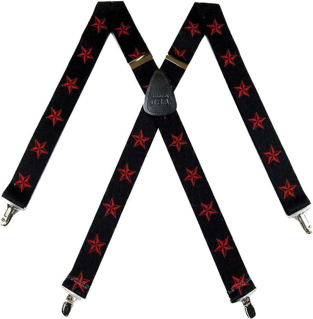 Mens Nautical Stars Suspender Themed Suspenders
