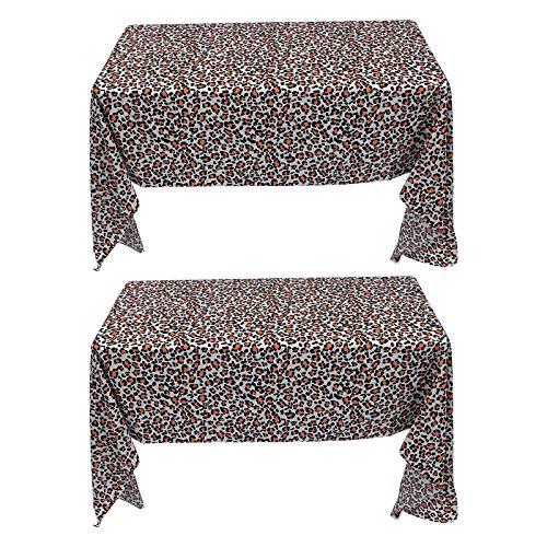 ABOOFAN 2pcs Cubiertas de Mesa Decorativas Mantel de Fiesta Cubiertas de Mesa de Cena Accesorios de Fiesta