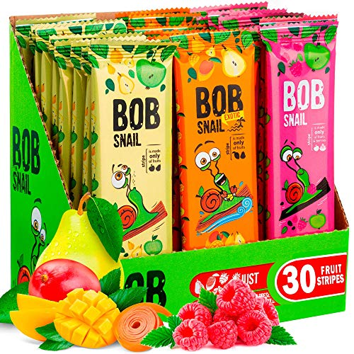 Snacks Variety Pack for Kids Adults - 30 Healthy Fruit Snacks Individual Packs for Kids Adults with Natural Mango Rasberries Pears and Apple Gluten-Free Vegan Low Carb Fruit Bar No Sugar Added