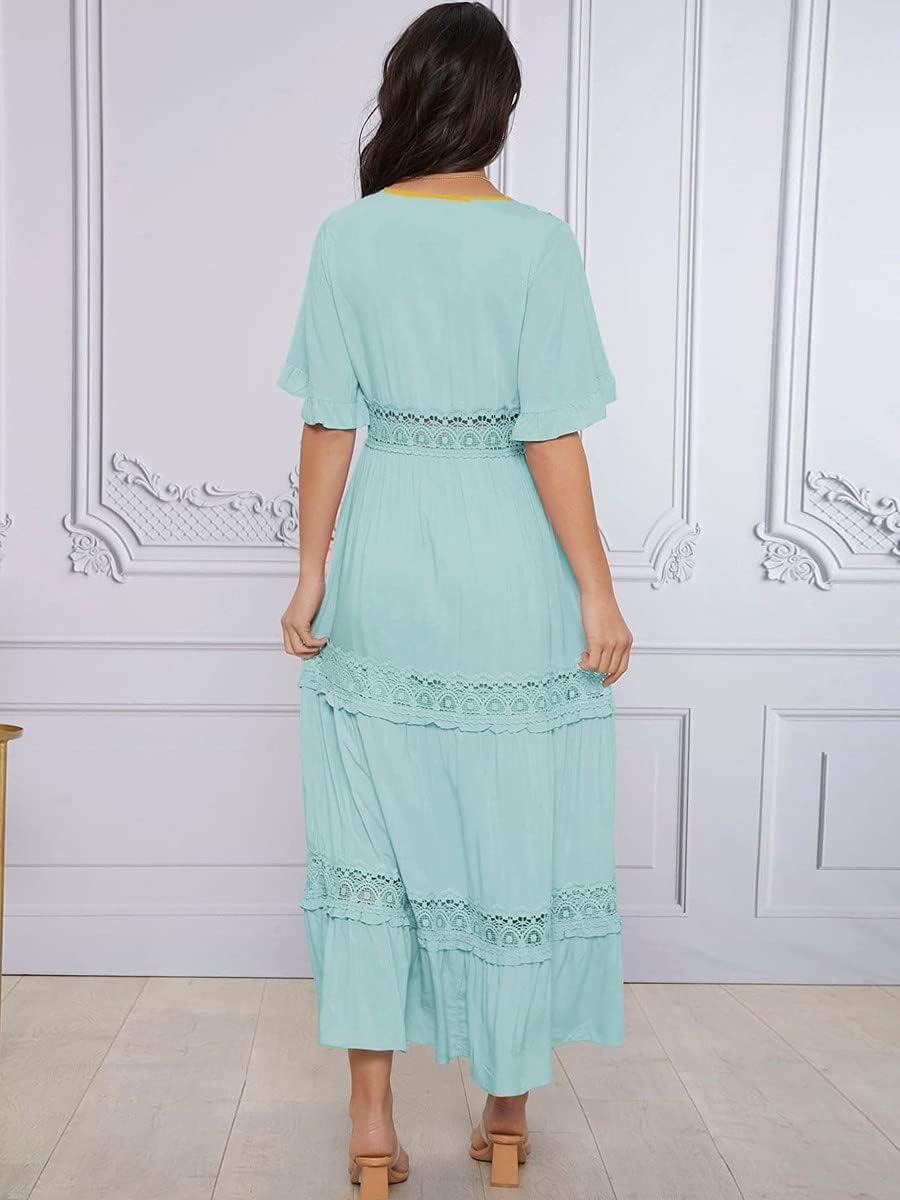 Ranking TOP19 Shreem85 Maternity Dress Popular popular Butterfly Sleeve Guipure Lace