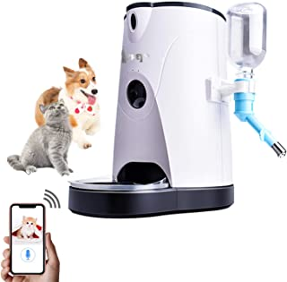 Cat Food Auto Feeder Automatic and Water APP Control Timer Programmable Video Voice Video Interaction for Pet/Small Medium Dog