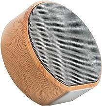 Bluetooth Speaker Mini Card Subwoofer Wood Grain Sound (Color : Gray) photo
