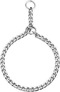 HAPPY HACHI Collar Consistent para Perros Collares de Acero Cadena Serpiente Metal para Adiestramiento(L 4.0mm*60cm)