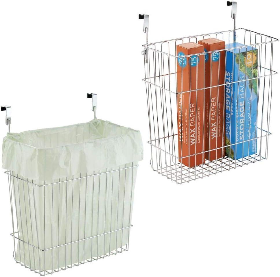 mDesign Metal Wire Hanging Over B Elegant Storage Organizer Kitchen NEW before selling Door