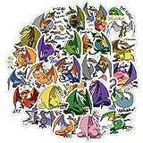 Super Cute Dinosaur Stickers Cartoon Kawaii Dragon Sticker para Laptop Phone Estuche de Viaje Pegatinas Impermeables 40Pcs / Set