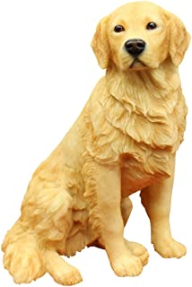 Resin Crafted Golden Retriever Statue-Puppy Dog Resin Figurine