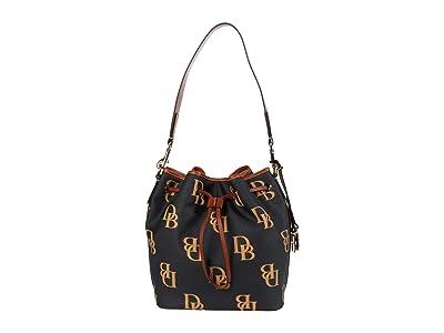 Dooney & Bourke Monogram Drawstring (Charcoal) Handbags