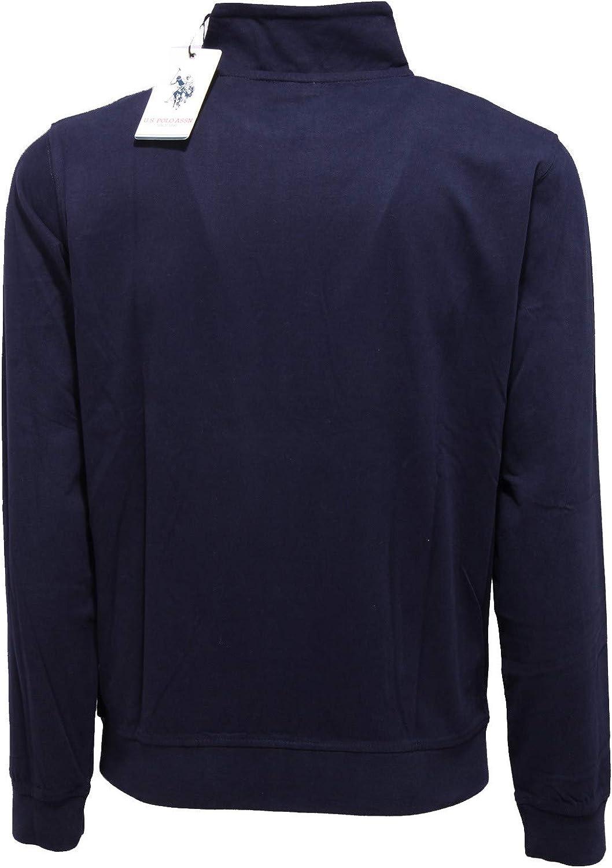 U.S. POLO ASSN. 5760K Felpa Giubbino Uomo Blue Cotton Sweatshirt Man Blu