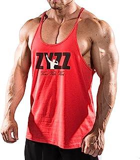 Alivebody T-Shirts Chaleco Suelto para Hombre Bodybuilding Camiseta Sin Mangas para Hombre