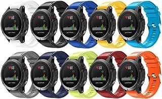 سونغسير متوافق مع غارمين فينكس 5 باند، 22 مم حزام بديل من السيليكون الناعم مناسب لفينكس 5/Fenix 5 Plus/Fenix 6/Fenix 6 Pr...