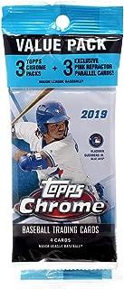 (1) 2019 Topps Chrome Baseball Unopened Value Pack (3 Packs/4 Cards, 1 Pack/3 Pink Refractor Parallel)