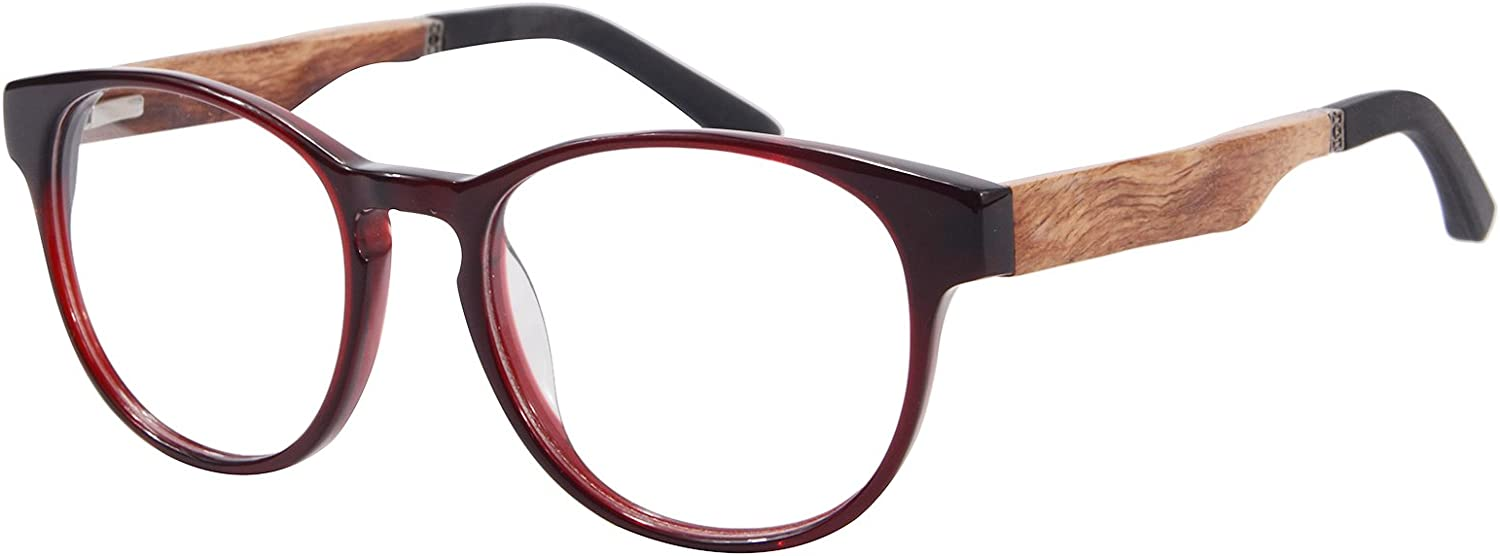 SHINU Horn Large discharge sale Rimmed Round Ranking TOP18 Anti Blue Multifocus Com Progressive Ray