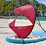 Arya Life 42 inches Downwind Wind Sail Kit Kayak Wind Sail Kayak Paddle Board Accessories,Easy Setup & Deploys Quickly,Compact & Portable,Red
