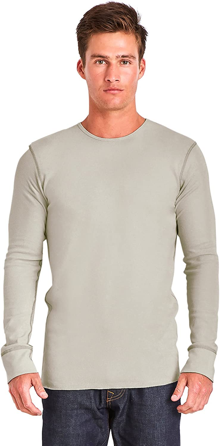Next Level Adult Long-Sleeve Thermal - SAND/ GRAY - L - (Style # N8201 - Original Label)