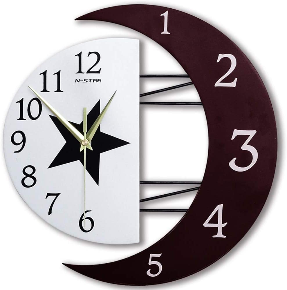 12-inch Wall Clock Ultra-Quiet Wooden Mute New mail order Don't miss the campaign