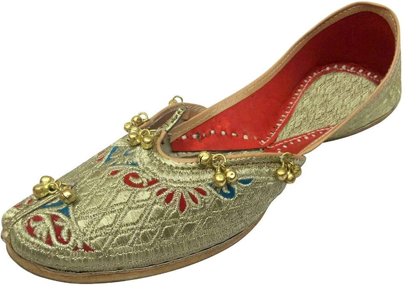 Step n Style Ladies Traditional Jooti Ethnic Pakistani Zari Jutti Salwar Kameez shoes gold