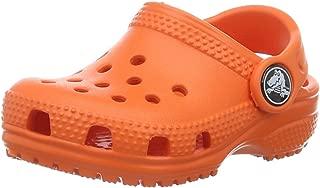 Crocs Kids' Classic Clog, Tangerine, 4 M US Toddler