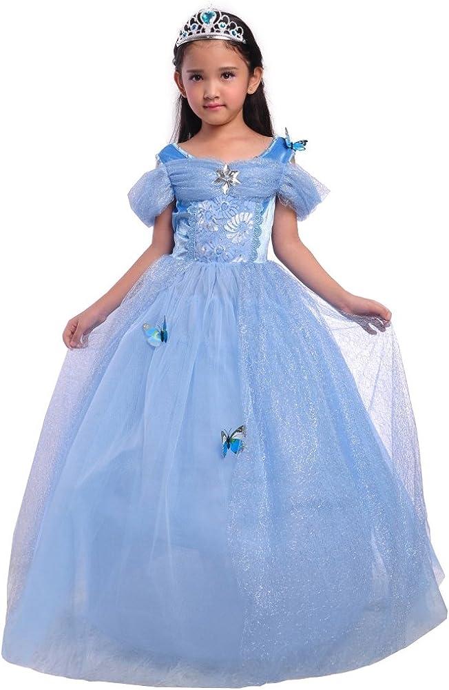 Amazon.com: Dressy Daisy Girls Princess Dress Costume Christmas Halloween  Fancy Dresses Up Butterfly Size 24M-12: Clothing