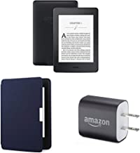 "$199 » Kindle Paperwhite Essentials Bundle including Kindle Paperwhite 6"" E-Reader (Previous Generation - 7th), Black , Amazon Leather Cover - Ink Blue, and Power Adapter"