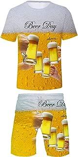 Men's Beer Festival 3D Printed T-Shirt Comfort Short Sleeve Tops/Suits