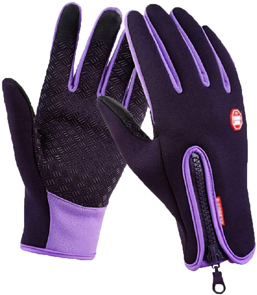 Winter Warm Men Women Waterproof Touch Screen Gloves Ski Fleece Lined Outdoor Driving Mittens