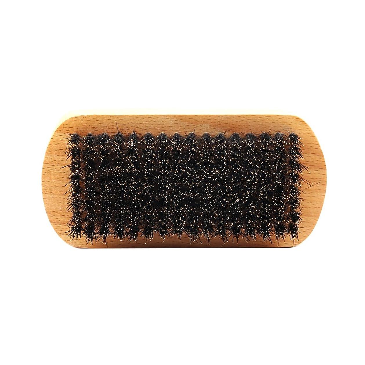 前者遠征細分化するPerfeclan ビュアブラシ 男性 ひげ剃り ブリスル 天然木ハンドル ひげそり 2タイプ選べる - #1