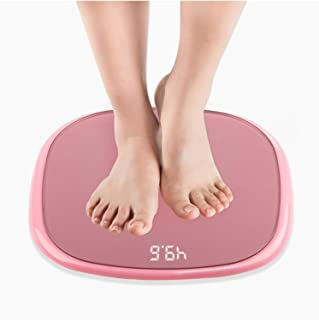 Báscula de peso para el hogar con Bluetooth y pantalla digital inteligente, báscula de peso electrónica, esfera de baño, peso de la mejor báscula de peso (color: rosa)