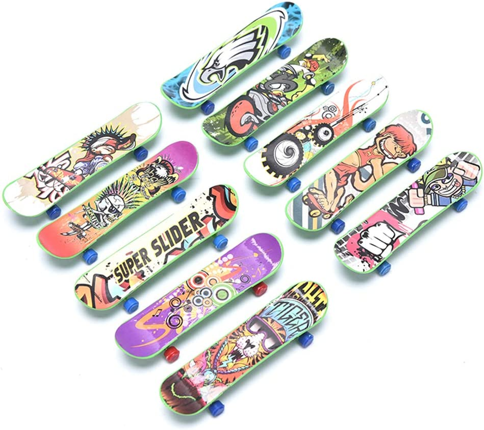 Popular popular TUANJIE 10 Pcs Mini Finger Free Shipping New Skate Scoot Skateboard Plastic