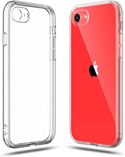 SHAMO'S Clear Shock Absorption TPU Rubber Gel Case (Clear) compatible with iPhone SE 2020 (2nd Generation), iPhone 7 and i...