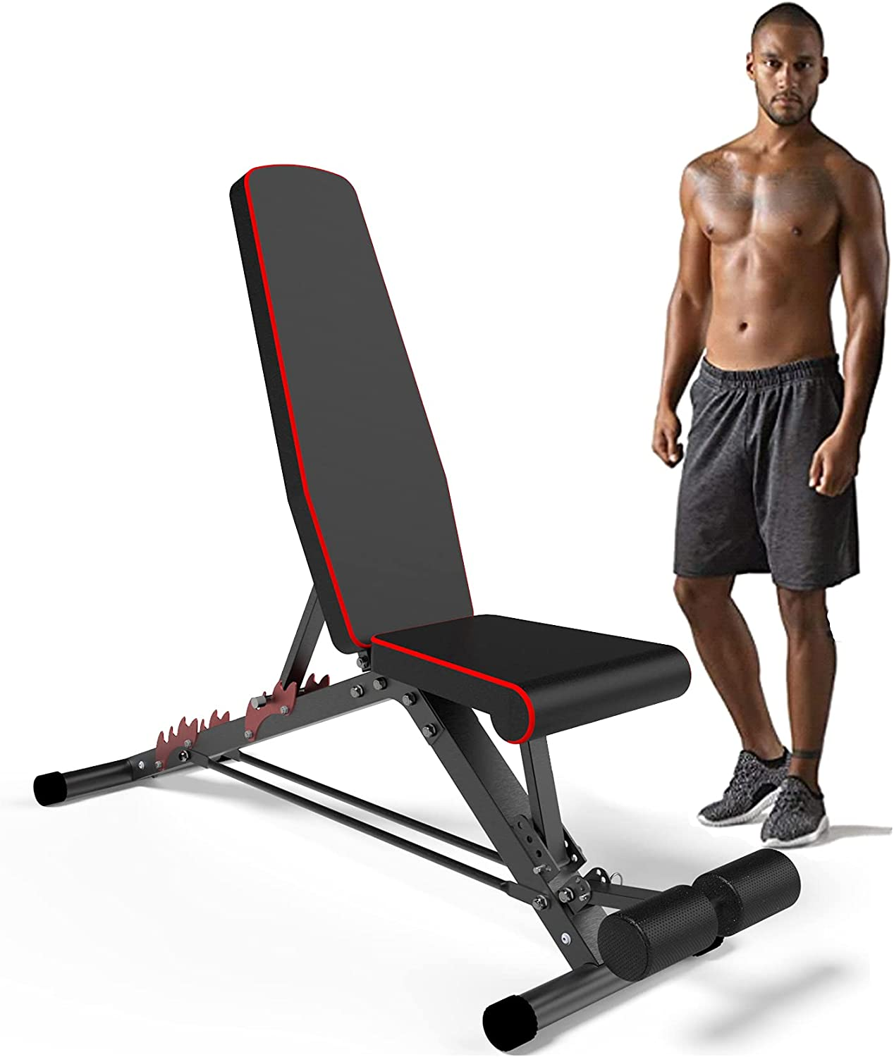 Gorgeous New item HOMETAL Adjustable Weight Bench Training Body Wo for Full