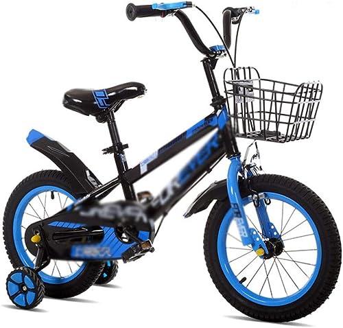 Kinderfürr r Dreirad Kinderwagen Mountainbike Kinder Ausgewogene fürrad Puzzle Walker Kinder fürrad Mit Hilfürad Geschenk Für Kinder (Farbe   Blau, Größe   14 inches)