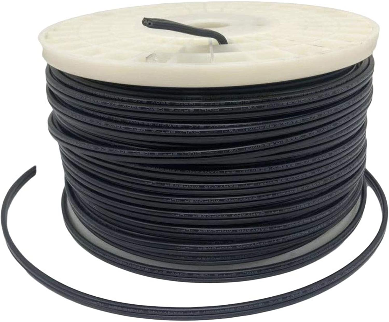 Aniai (250feet) Spool 18 2 SPT-1, SPT-2 Bulk Lamp Cord, 300-Volt 18-Gauge (spt2, black)