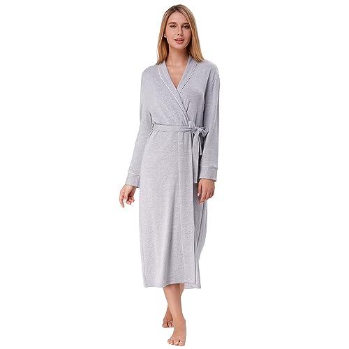 673b5793df Zexxxy Women Robe Soft Kimono Warm Cotton Knit Bathrobe Long Loungewear  Sleepwear S-XXL