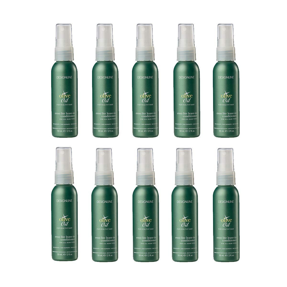 Olive Oil EVOO Cheap bargain Lite Leave-in 2 Inventory cleanup selling sale Regis DESIGNLINE - 10 Pack oz