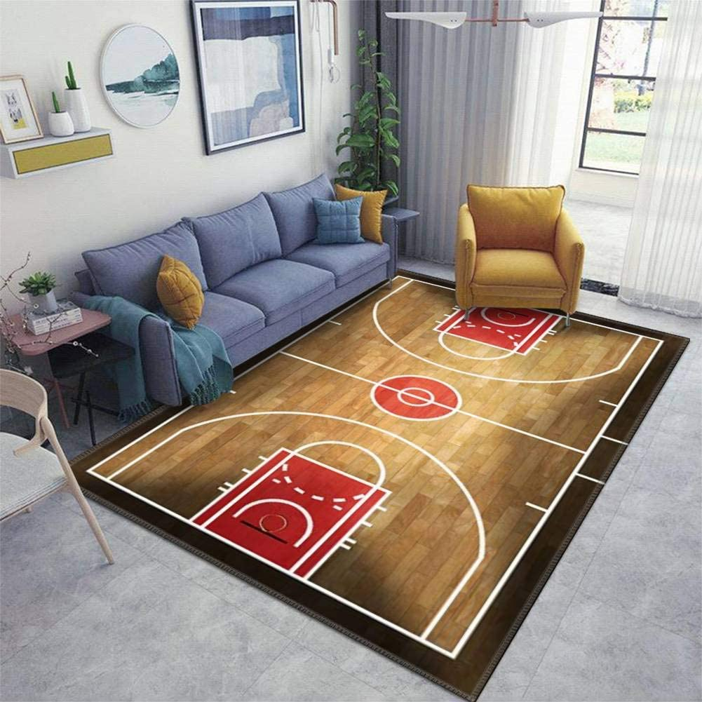 Home Area Don't miss the campaign Runner Rug Daily bargain sale Pad Wooden Parquet with Basketball Court Th