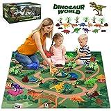 WEARXI Dinosaurier Spielzeug - Dino Spielzeug, Indominus Rex Dinosaurier Figuren spielmatte, Geschenke Junge Dinosaurier Spielzeug ab 3 6 8 Jahre Junge mädchen, Jurassic World Spielzeug für Kinder