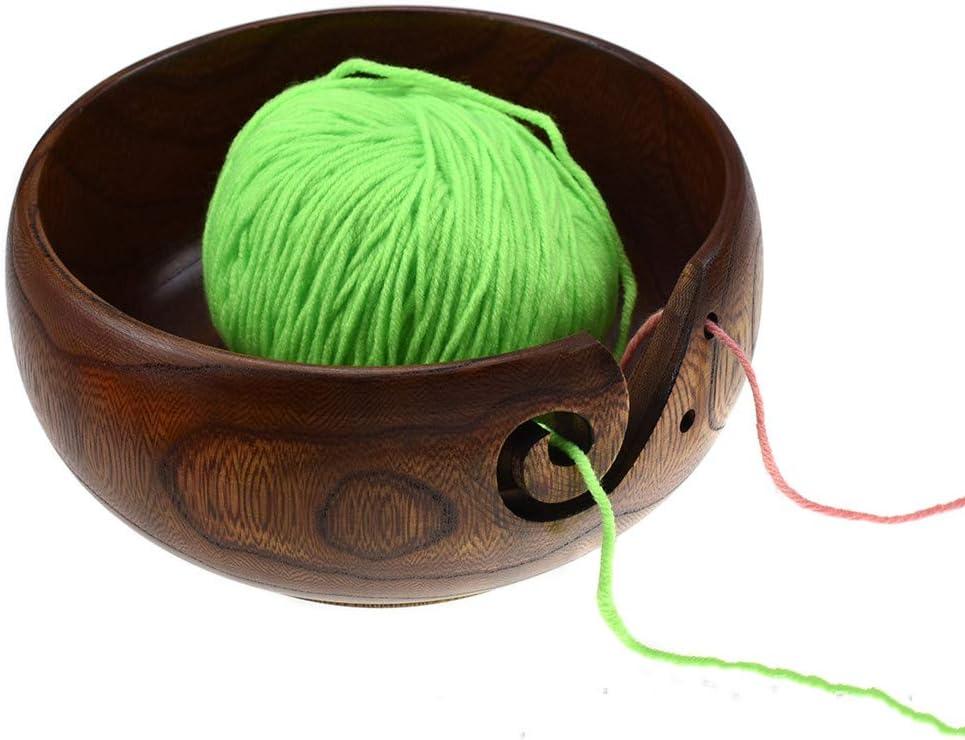 Katech Wooden Yarn Bowl Luxury Empty Organizer with Import H Storage